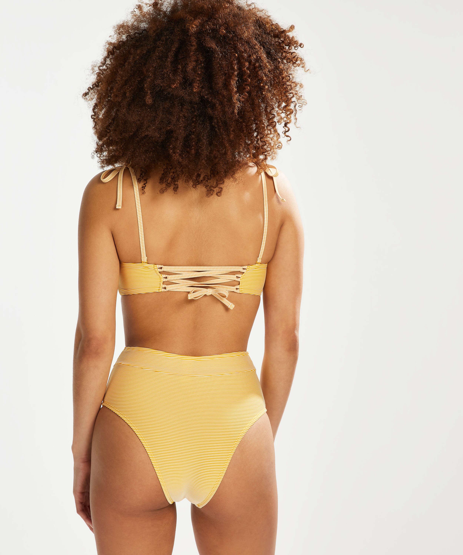 Carmel formpressad bandeau-bikinitopp, Gul, main