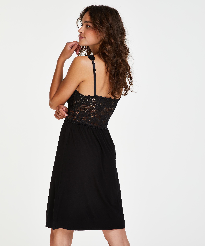 Underklänning Modal Lace, Svart, main