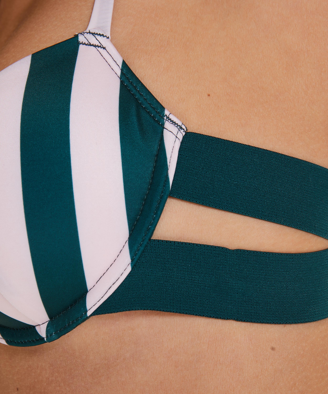 Formpressad bikiniöverdel med bygel Santa Rosa, grön, main