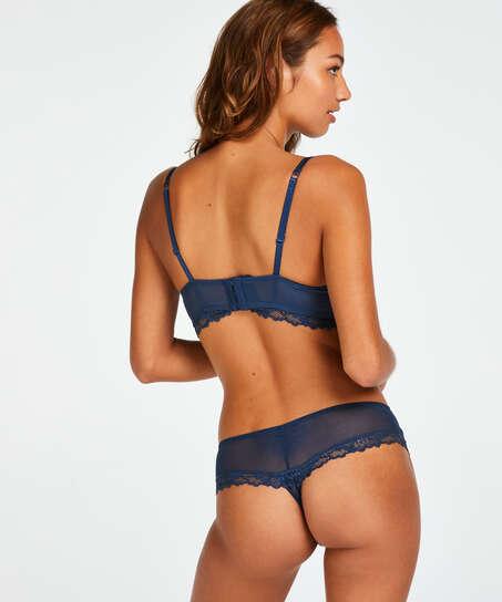 Boxer-stringtrosa Yvonne, blå