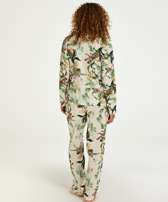 Stickade pyjamasbyxor, Rosa, main