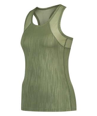 HKMX Sport slim fit tank top, grön