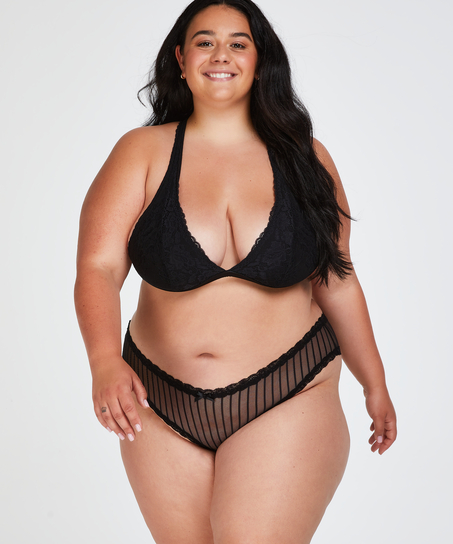 Brazilian-trosa V-shape mesh, Svart