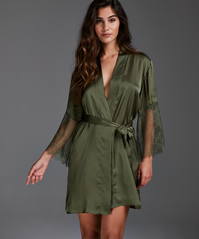 Kimono Satin Lily, grön, main