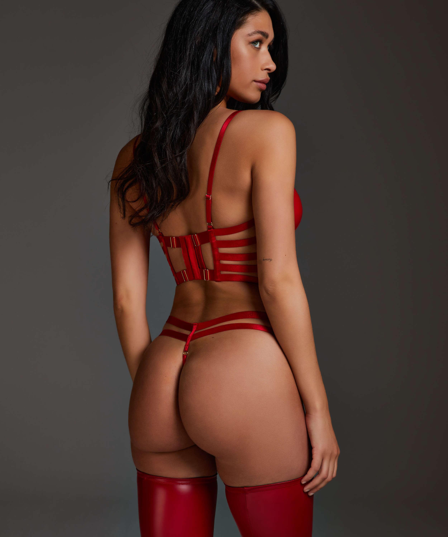 Vicky formpressad bygel-bh med push-up, röd, main