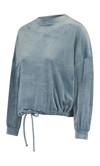 Mammatop i sammets, blå