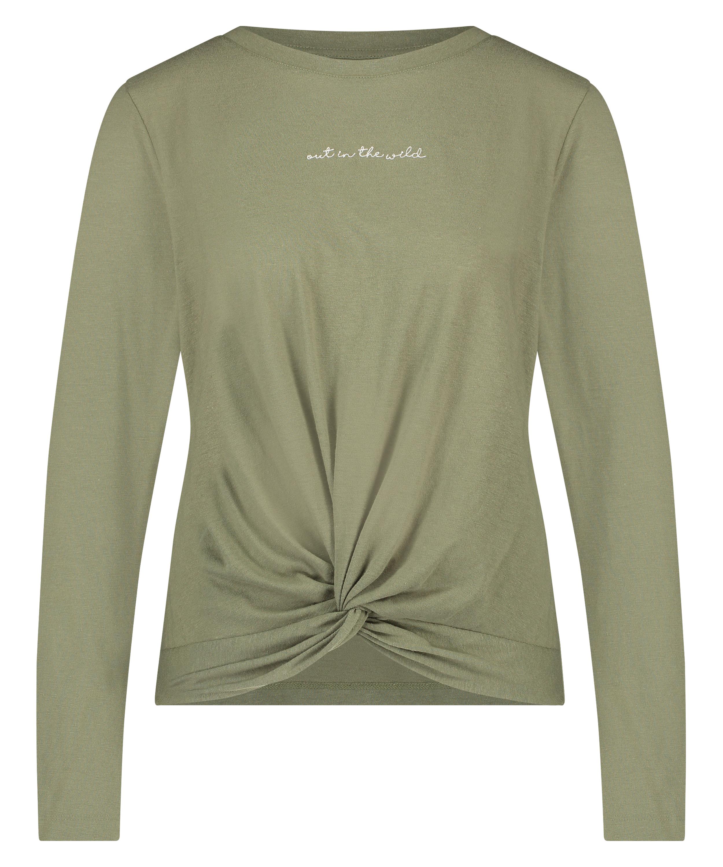 Långärmad top Jersey Knot, grön, main