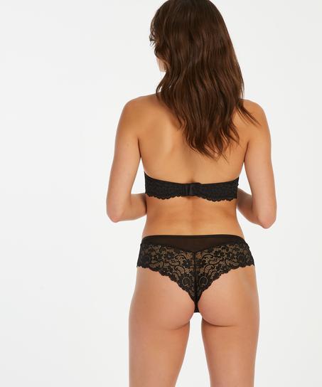 Mia Brazilian-shorts, Svart