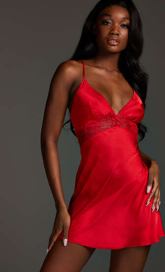 Nina – Underklänning, röd