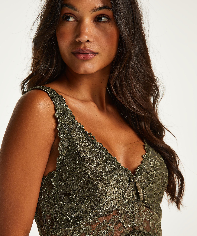Nora Lace slipklänning, grön, main