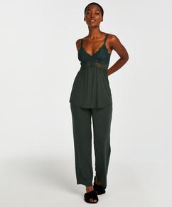 Pyjamasset i spets Vera, grön