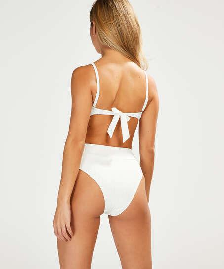 Emily formpressad bandeau-bikinitopp, Vit