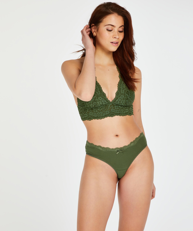 Brazilian-trosa i bomull, grön, main