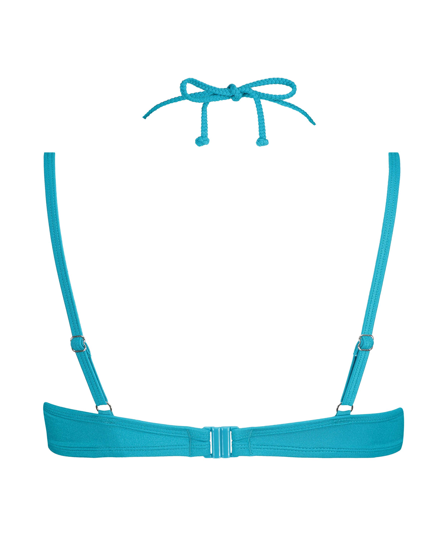 Celine formpressad bikiniöverdel med bygel, blå, main