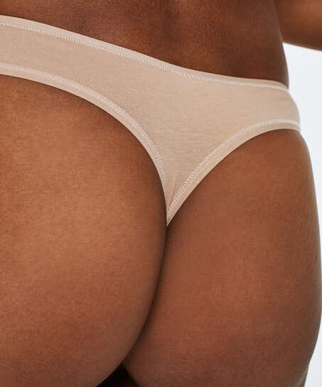 2-pack stringtrosor Kim Cotton, Beige