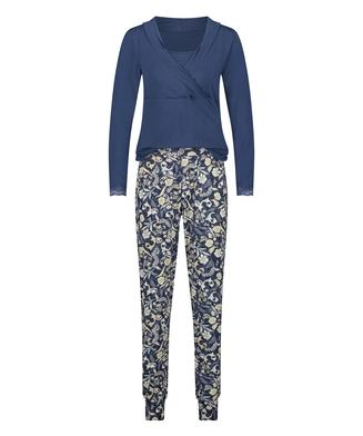 Pyjamasset för amning , blå