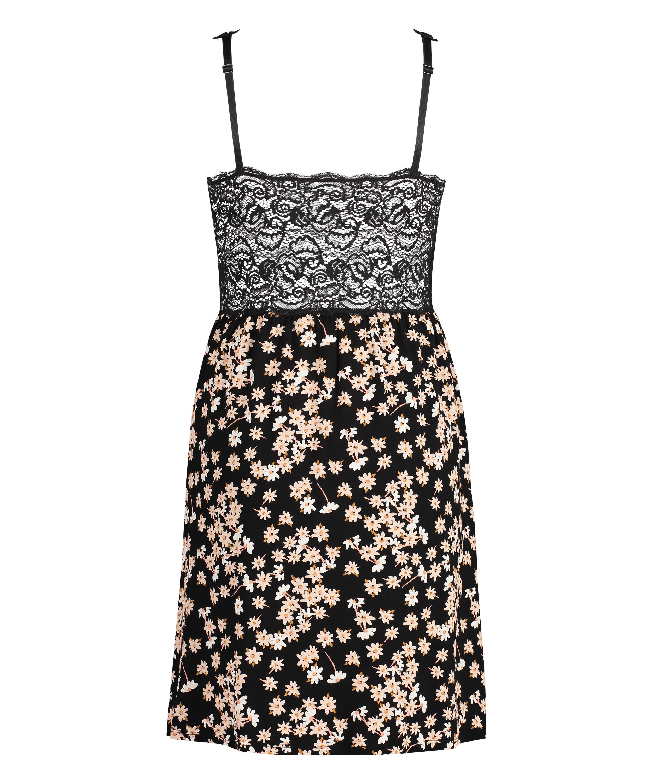 Daisy Modal underklänning i spets, Svart, main