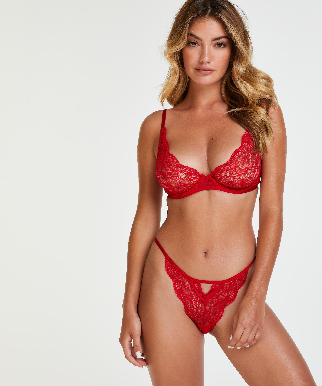 Isabelle icke-formpressad bygel-bh, röd, main