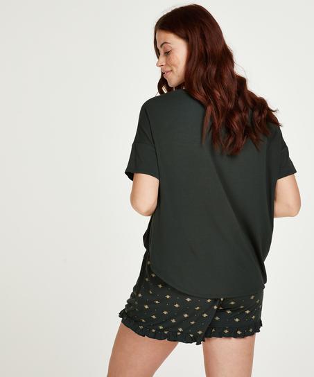 Kort pyjamas-set, grön