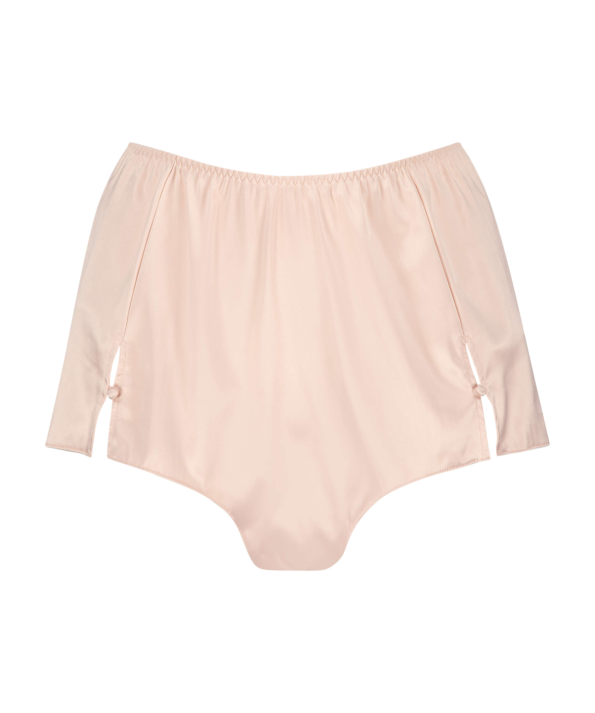 Amelia Tap Satin Shorts, Rosa, main