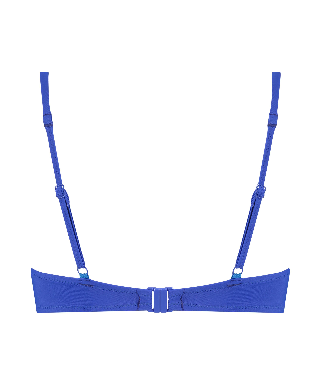 Luxe push-up bikini-överdel Storlek A - E, blå, main
