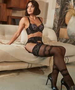 Elissa 15 Denier Stockings Lucy Hale, Svart
