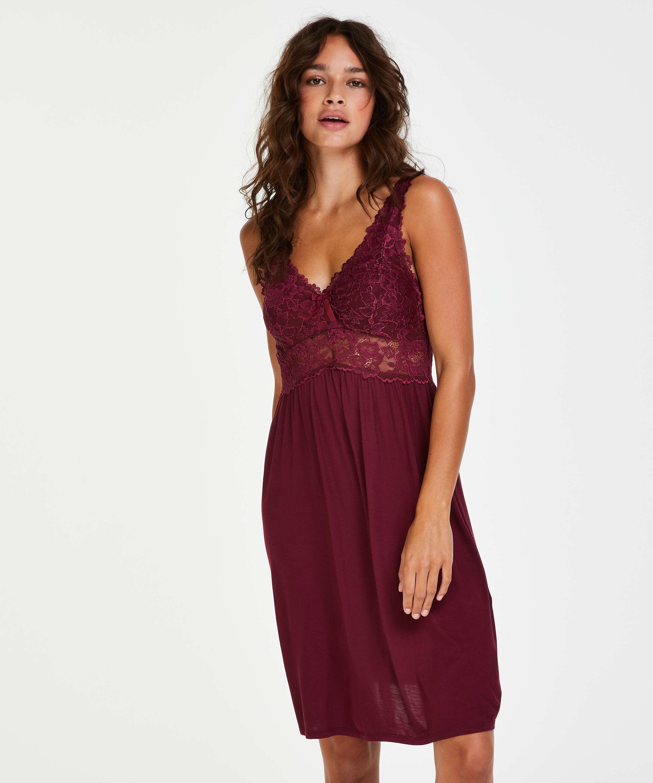Underklänning Modal Lace, röd, main