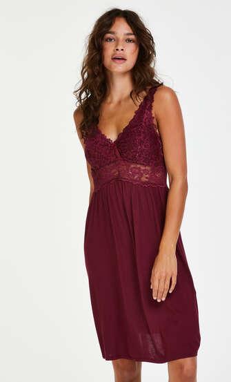 Underklänning Modal Lace, röd