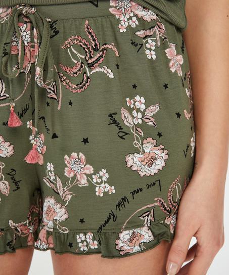 Pyjamasshorts Jersey, grön