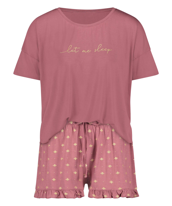 Kort pyjamasset, Rosa, main