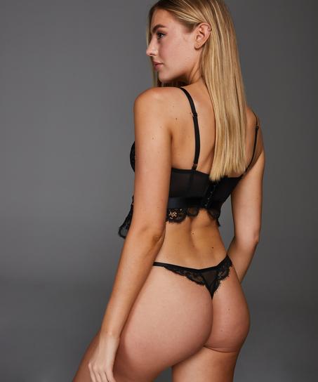 Stringtrosa Heather, Svart