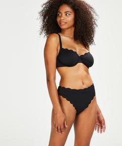 Icke-formpressad bikinitopp Scallop Glam, Svart