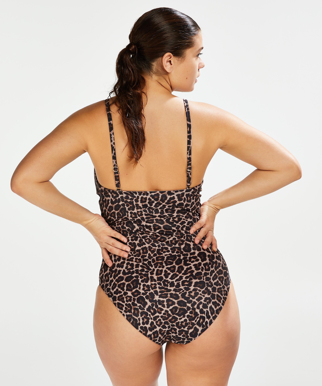 Leopard-baddräkt, Beige, main