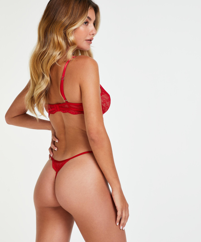 Isabelle icke-vadderad bygelbehå, röd, main