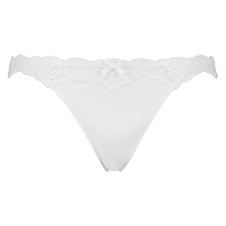 Stringtrosa Secret lace, Vit