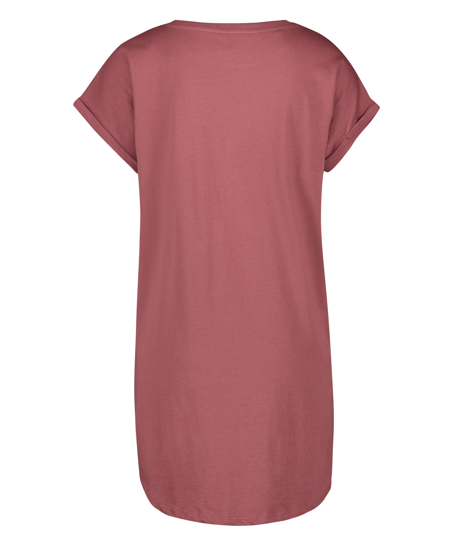Nattskjorta med rund hals, Rosa, main