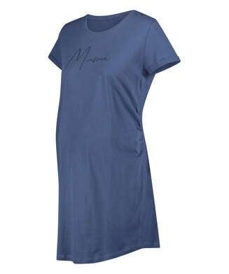 Kortärmat mammanattlinne, blå