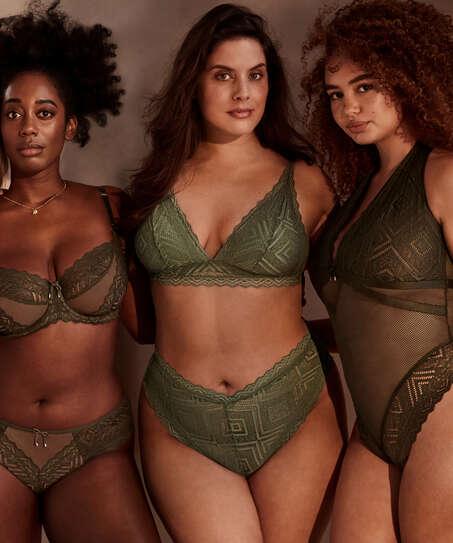 Philomena brazlian-trosa med högt skurna ben I AM Danielle, grön