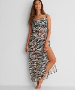 Strandklänning i midi-längd djursheer HKM x NA-KD, Vit