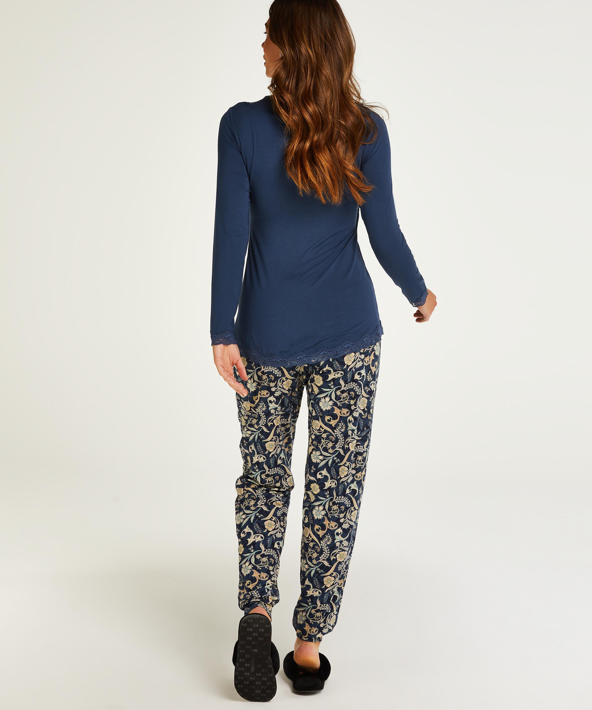 Pyjamasset för amning , blå, main