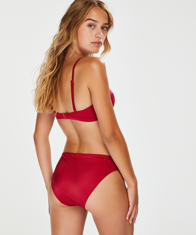 Lola formpressad bikiniöverdel med bygel och push-up, röd, main