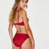 Lola formpressad bikiniöverdel med bygel och push-up, röd
