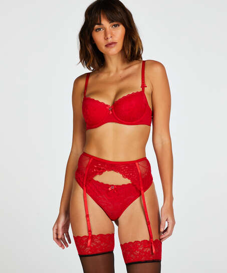 Strumpeband, röd