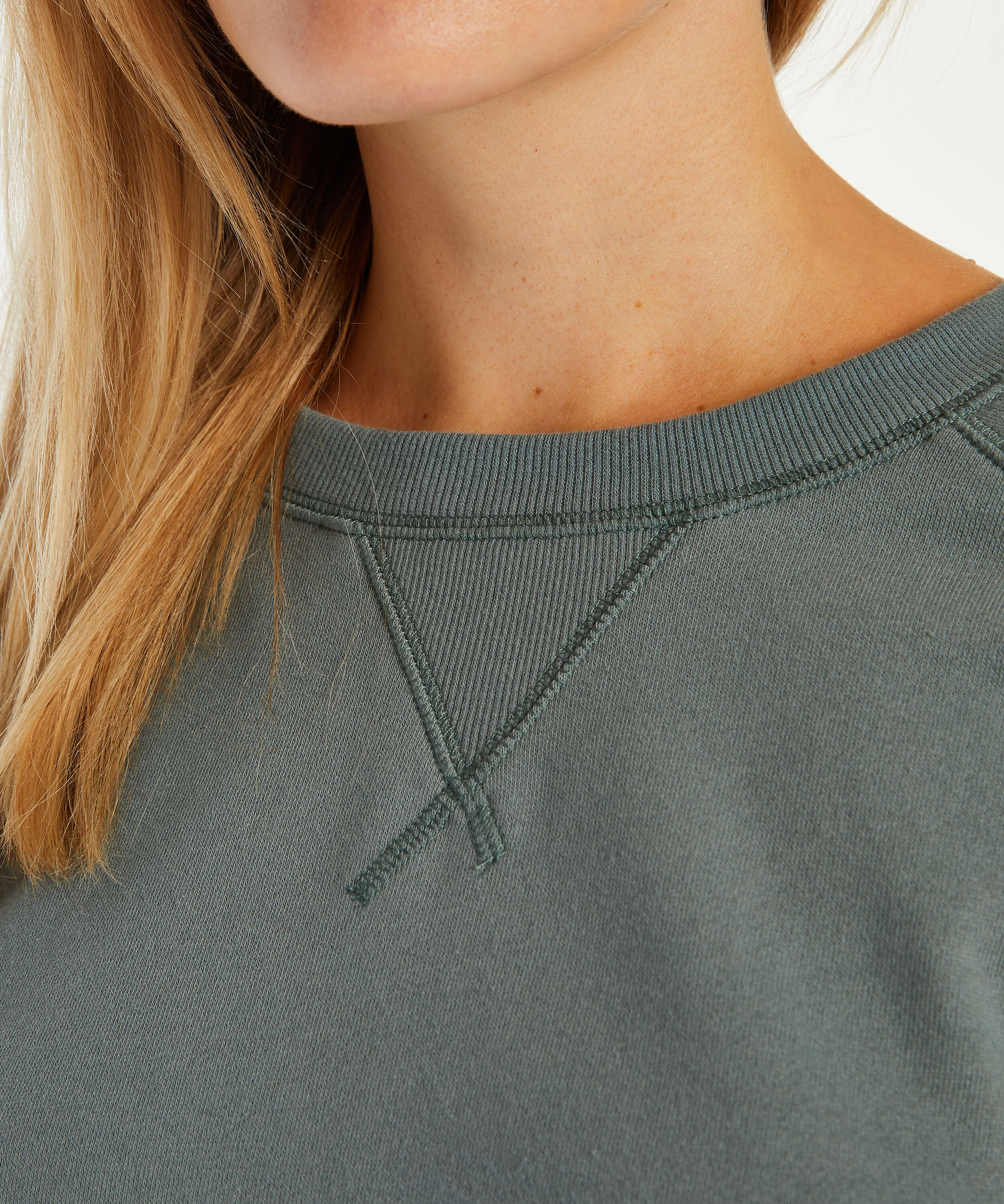 Sweat French Long-Sleeved Top, grön, main