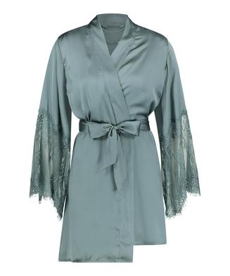 Kimono Satin, grön
