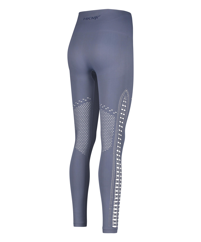 HKMX Karma sömlösa leggings med hög midja, blå, main