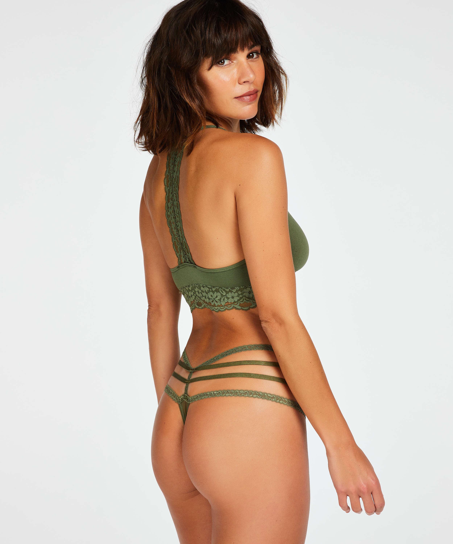 Bonnie låg stringtrosa, grön, main