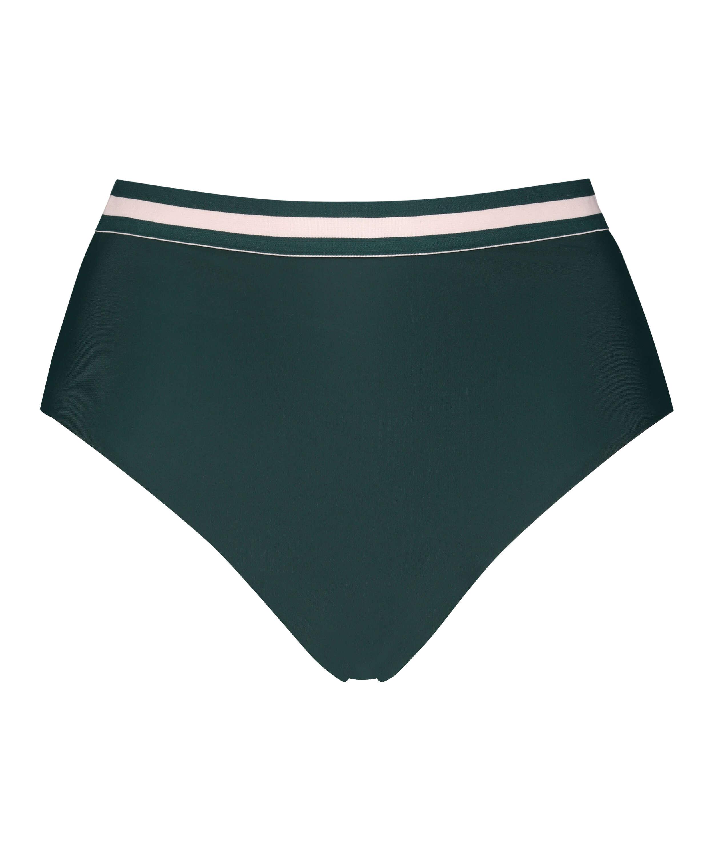 Djärvt och högt skuren bikiniunderdel Pinewood, grön, main