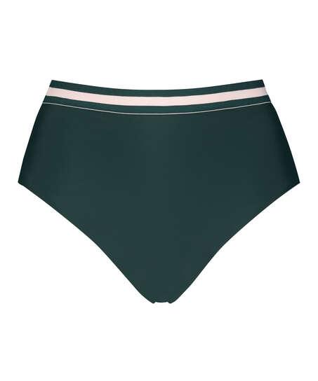 Djärvt och högt skuren bikiniunderdel Pinewood, grön