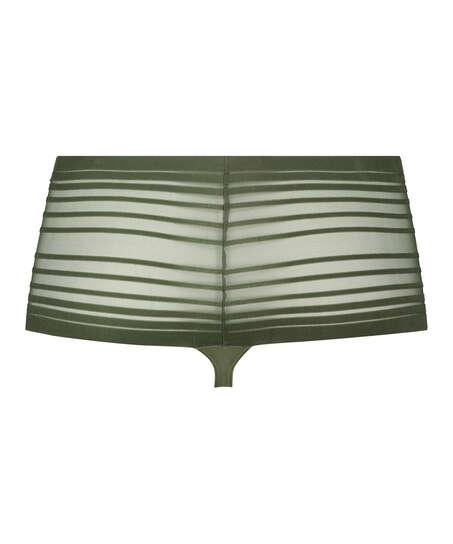 Invisible hög stringtrosa, grön